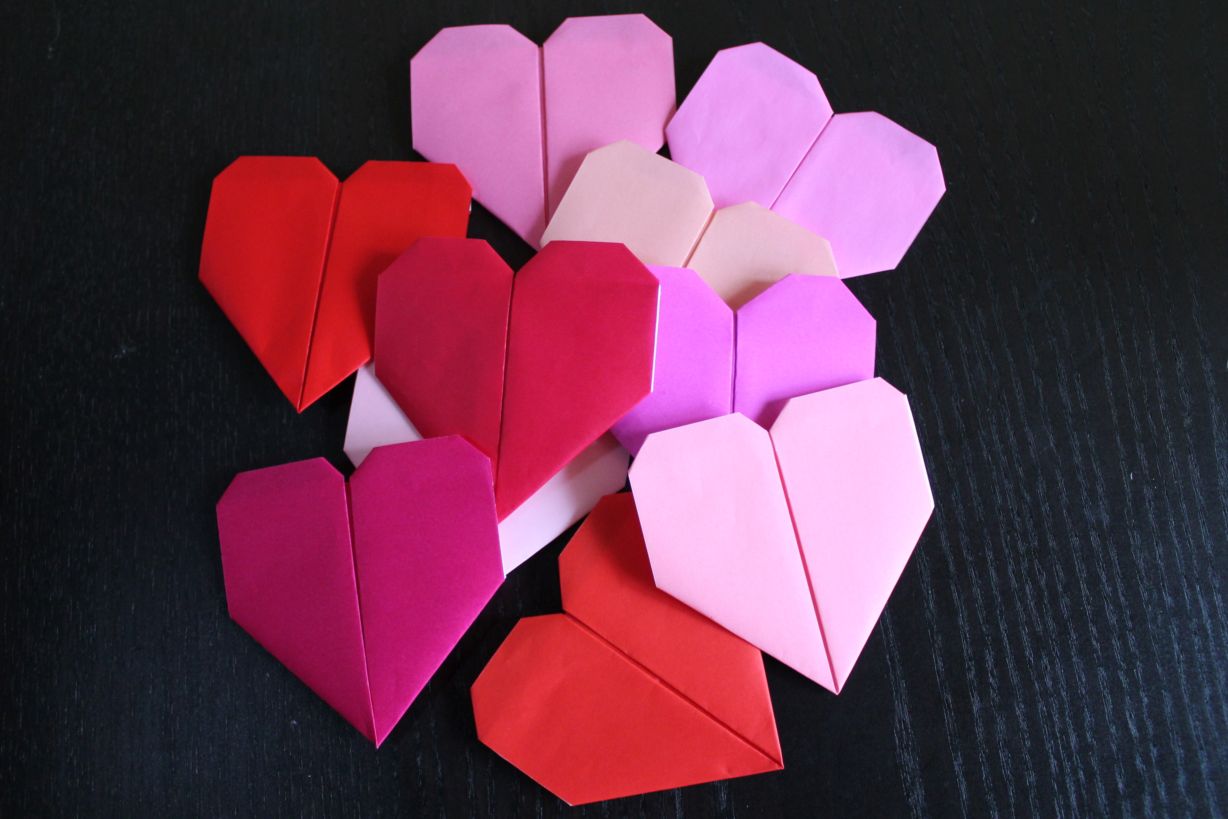 heart origami | Sparkling and Sweet